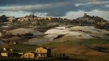 Panorama su Castiglione d'orcia