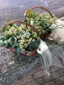 Cesta con fiori